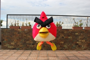 angry bird mascot